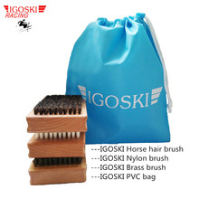 SKI AND SNOWBOARD WAX TOOL FOR NYLON HORSE HAIR BRASS PROTECTION ALL TOGETHER CLEANING KIT