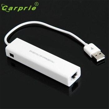 Câble de réseau Ethernet de carte Lan USB à RJ45 + Hub 3 ports pour Win 8 7 XP Jan16