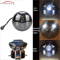 RTD 40W 5 75 Motorcycle Headlight Round Projector LED Light Bulb Headlamp For Harley Dyna Softail