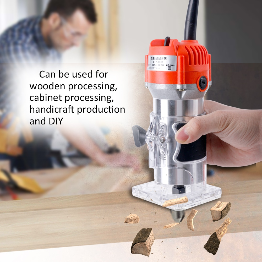 Electric Laminate Edge Trimmer Mini Wood Router Collet Carving Machine Carpentry Woodworking Power Tools