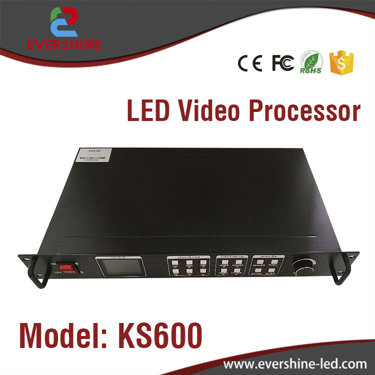 KS600 LED Rental Video Processor Composite DVI VGA Input 1920*1080 Pixel Support 2Pcs Sending Card LED Display Video Processor wavelets processor