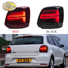 Car Styling For Volkswagen Vw POLO 2011~2017 taillights led rear lights ,DRL+Brake+Park+Dynamic turn signal