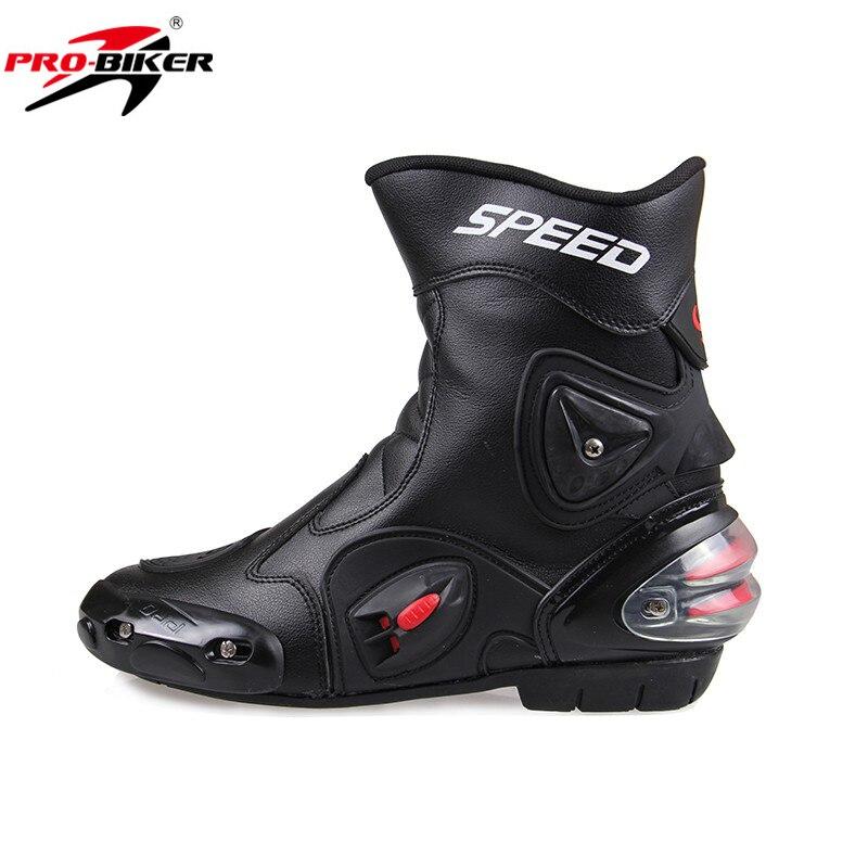 Männer Motorrad Stiefel PU Leder Motorsport Reiten Racing Stiefel Motocross MX Schuhe Motorrad Bike GESCHWINDIGKEIT Schutz Getriebe