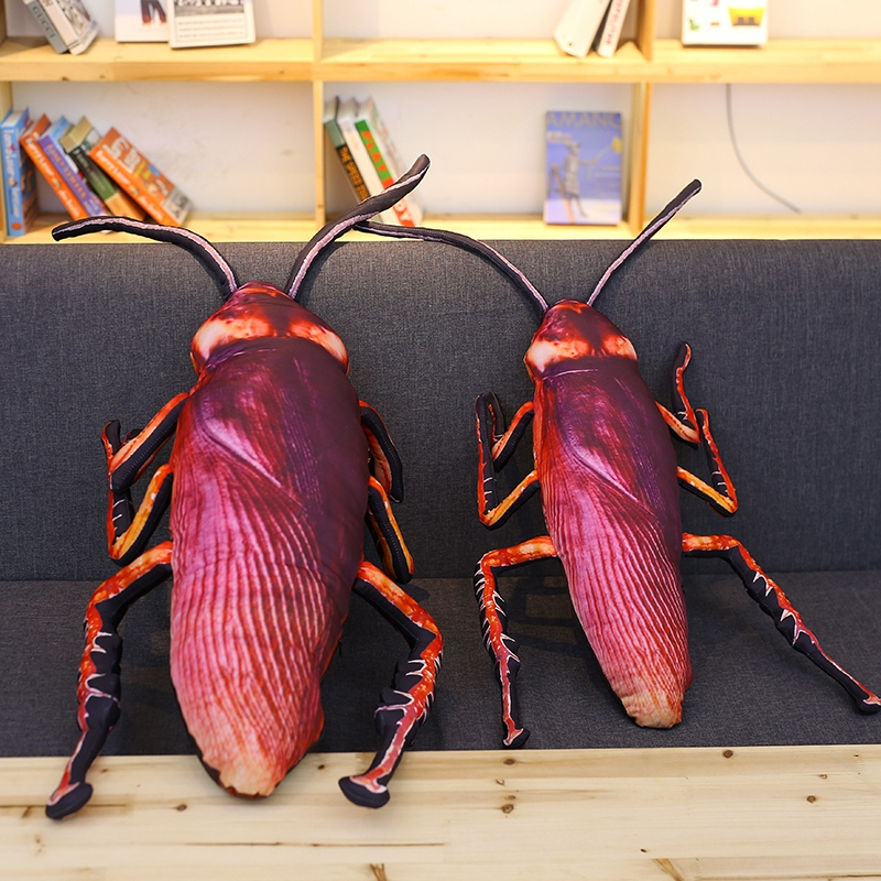 Cockroach Plush Baby Toys Creative Simulation 3D Insect Pillow Cushion Funny Toys Weird Birthday Gift For Children