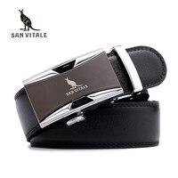 SAN VITALE Men Belts Genuine Leather Luxury Strap Male Belt For Man Homme Buckle Fancy Vintage