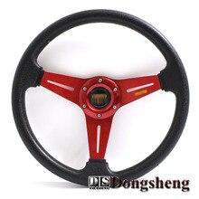 14″ MOMO PU Steering Wheel / 350MM Steering Wheel PU Sport Steering Wheel Racing Car Steering Wheel For CIVIC Optional models