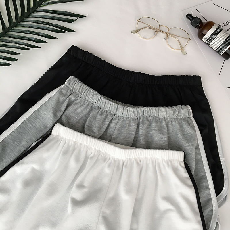 HTB11OjaRkvoK1RjSZFNq6AxMVXa7 - Simple Women Casual Shorts Patchwork Body Fitness Workout Summer Shorts Female Elastic Skinny Slim Beach Egde Short Hot