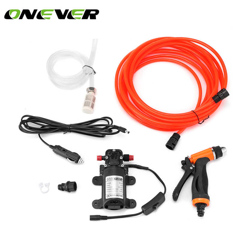 Car Washer Pump high Pressure Washer Power Pump System Kit DC 12V 130PSI Household Car Washer Washing Machine