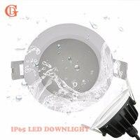 Empotrada LED Downlight 15 W 220 V LLEVADO Abajo de Luz para Baño Downlight LLEVADO Para la Iluminación Al Aire Libre IP65 A Prueba de agua