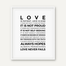 "Christian Wall Art ""Love is Patient"" Bible Canvas Print"