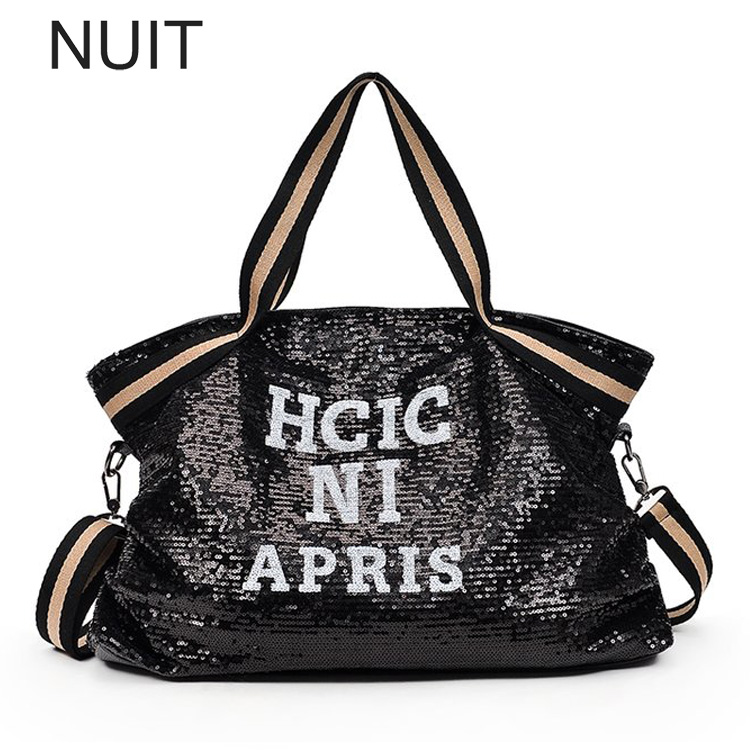 Women's Bag Letter Pu Leather Tote European and American Fashion Women Shoulder Bag Large Capacity Female Handbag Travel Bags fashion letter label embellished shinning pu baseball cap for men and women