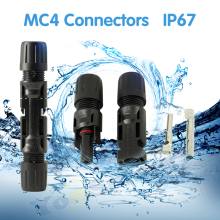PowMr 1Pair MC4 Connector Solar Connectors Panel Male & Female For System Cable 2.5mm2 4mm2 6mm2