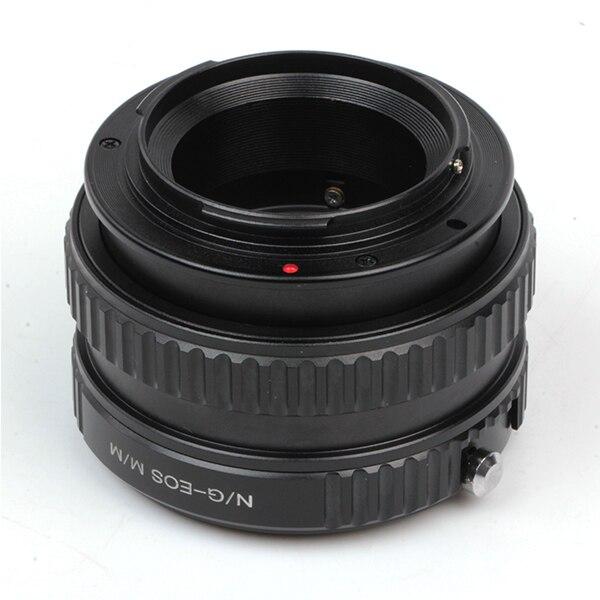 Tubo helicoidal macro anel adaptador suit para nikon g/f/ai/ais lente para canon eos m m3 m2 câmera