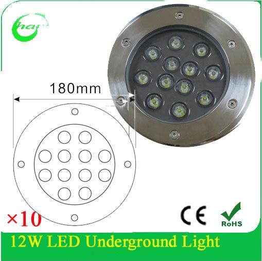 Led Underground Lamps Christimas Light 12w Led Inground Light For Garden,parks,villas 10pcs/lot Lights & Lighting