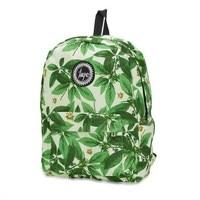 Printing Backpack Women Floral Bookbags Waterproof Canvas Backpack Schoolbag For Girls