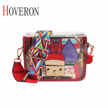 Fashion Women Brand Design New Female Handbag Small square Girl Shoulder Bag Transparent PU Composite Messenger bag Beach bag цена
