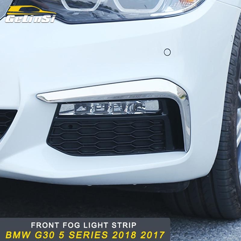 GELINSI Auto Car Front fog light strip sticker accessories For BMW G30 5 series 2018