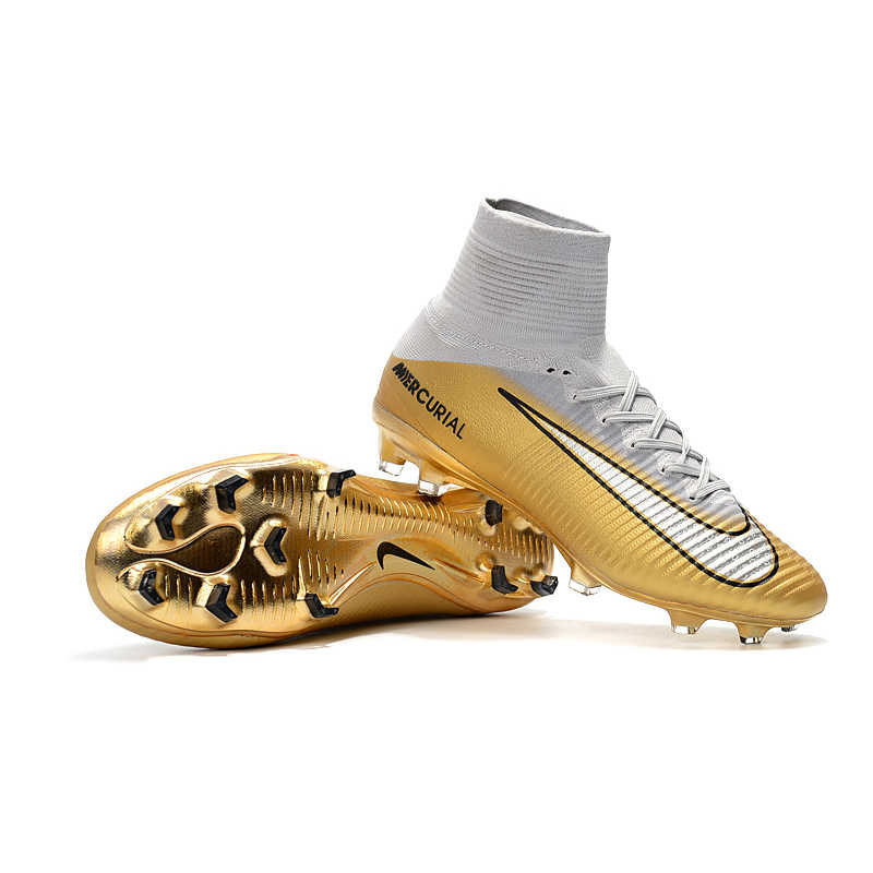 low priced a2642 3ee89 Nike MERCURIAL SUPERFLY V AG Soccer Shoes Superfly High Ankle Football  Boots Outdoor for Men 831955-002 39-45