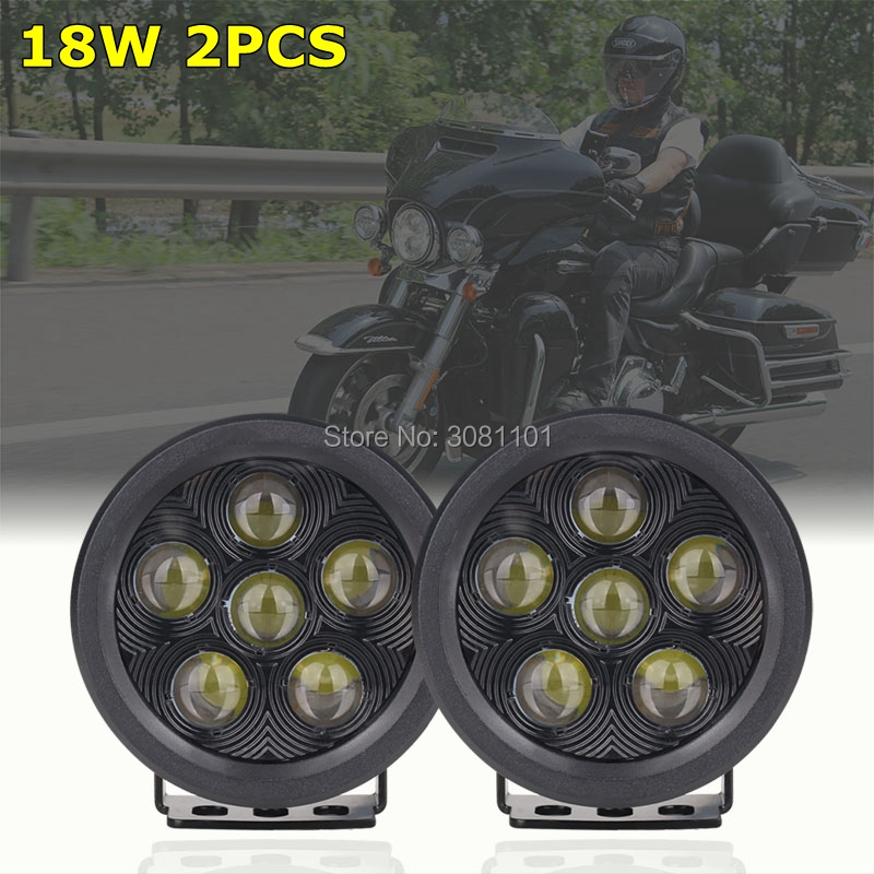 1Pair 3 5 inch 18W Round Led Projector Work Lights Off road Driving Pod Spotlight for