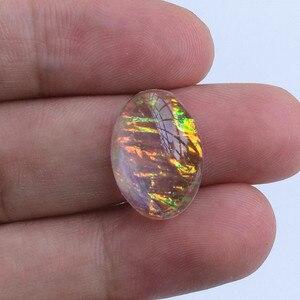 Image 5 - Kamień żywiczny średnica 13x18mm owalny 2 # wysokiej jakości Cabochon Dome koraliki półpłaskie komponenty do biżuterii DIY Cameo wisiorek ustawienie