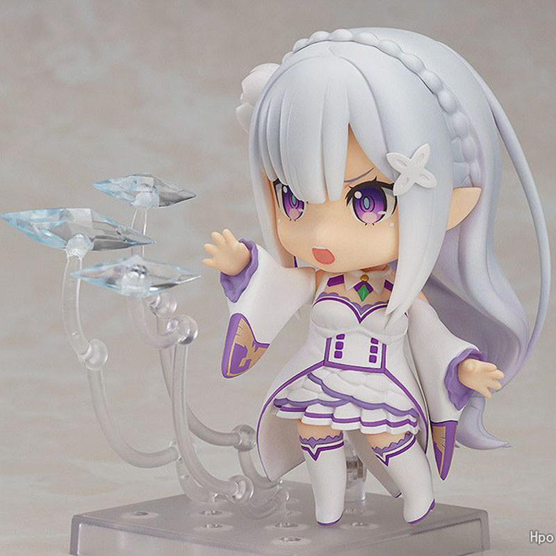 Q Version Anime Re:Life in a different world from zero Nendoroid 715# figure Emilia PVC action figure collection model toy