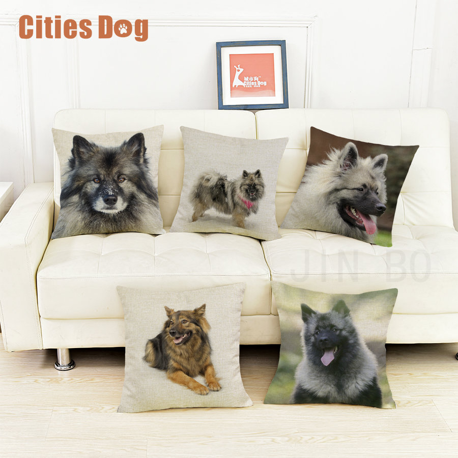 Keeshond dog cushion sofa cover pillows decorative 2018 new Year Valentines Day gift dogs pillowcases almofada cojines