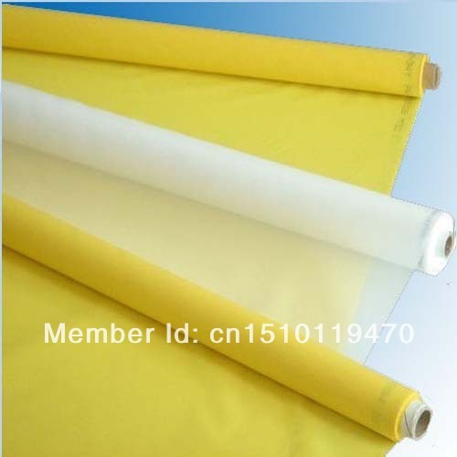 white colour 127cm 100T/250mesh polyester screen printing mesh