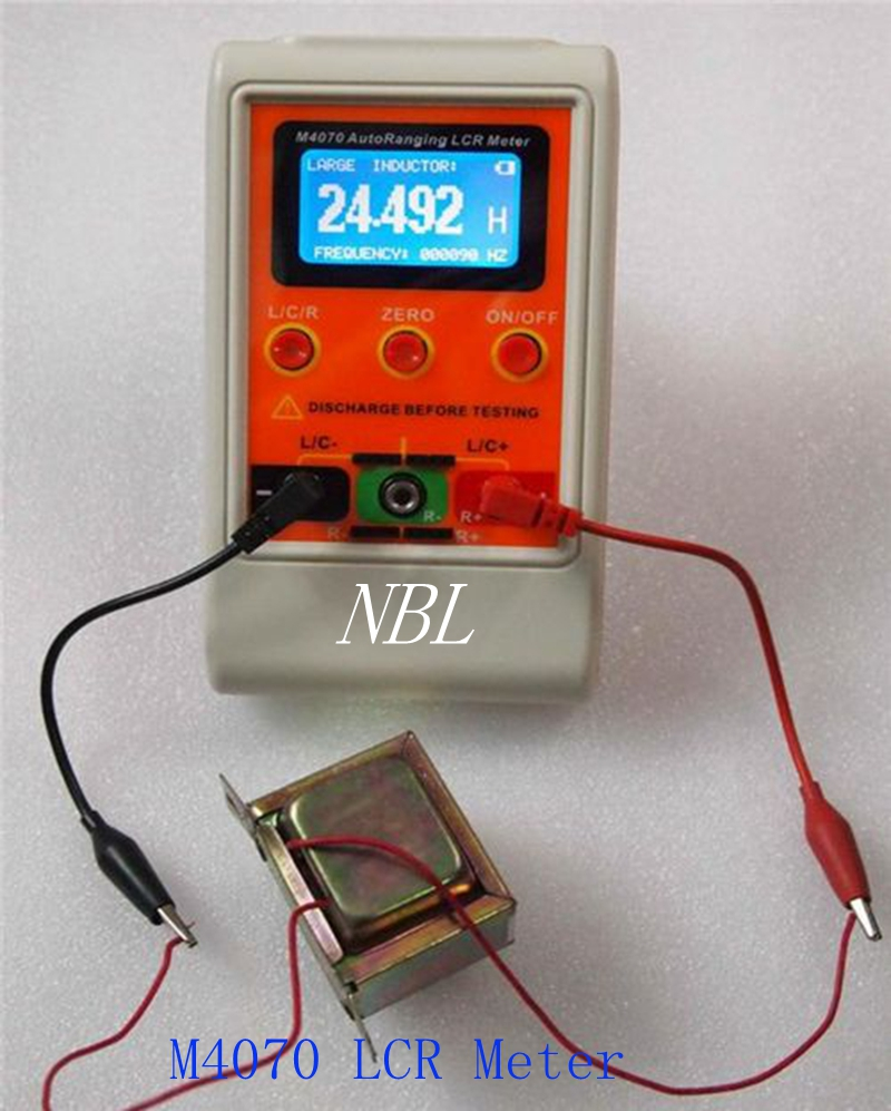 Rechargeable Auto Ranging LCR Meter M4070 Capacitance Inductance Meter With SMD Test Clip High Quality Precision