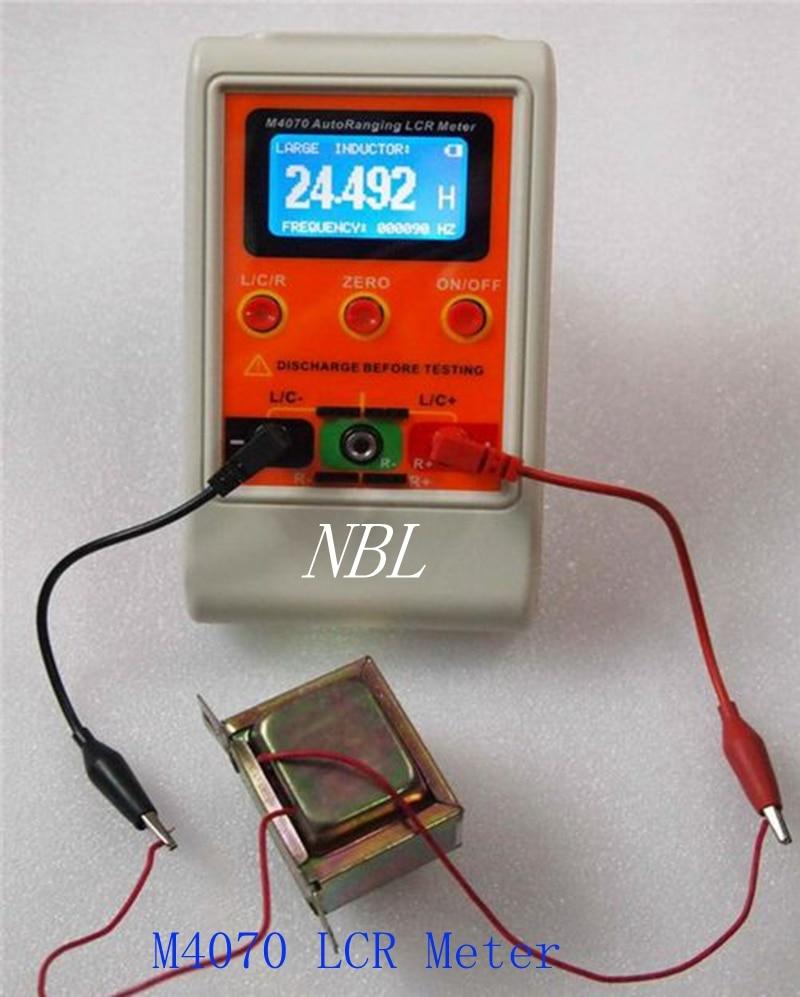 Mètre automatique Rechargeable d'inductance de capacité du mètre M4070 de LCR avec l'agrafe d'essai de SMD précision de haute qualité livraison gratuite