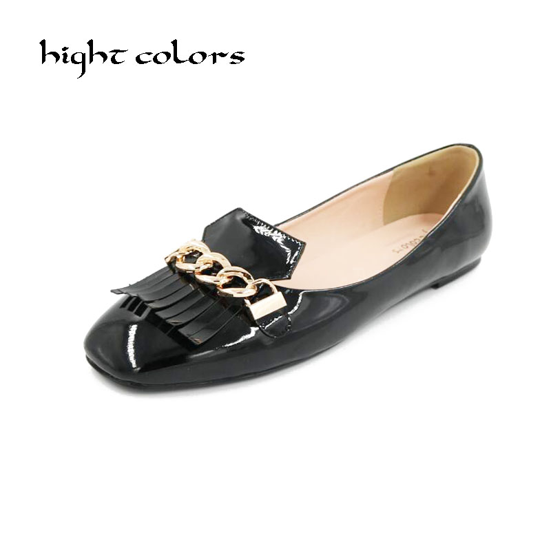 Big Size 33-47 New Spring/Autumn Slip On Women Patent Leather Shoes Moccasins Loafers Soft Leisure Flats Female Casual Footwear ladies leisure casual flats shoes patent leather lady loafers sexy spring women shoes brand footwear shoes size 33 48 p16177