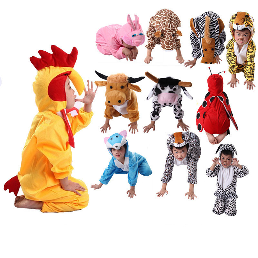 Halloween Kids Animal Pyjamas Onesize Cosplay Pajamas Animal Cosplay Costume Fancy Dress Cos Sleepwear