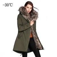 COUTUDI Winter Jacket Women 2018 Parkas Plus Size Outwear Coats Woman Army Green Big Fur Hood Coat Cotton Padded Quality Jackets