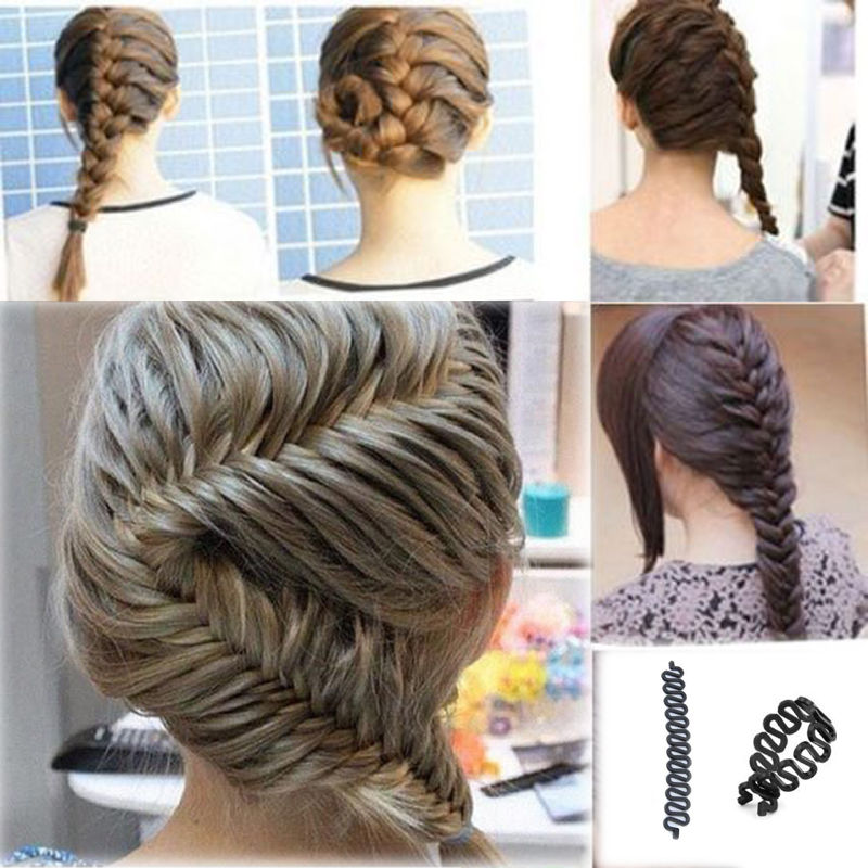 Fashion Hair Braiding Braider Tools Roller With Hair Twist Styling Bun Hair Band Accessories 1 PCS