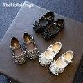 Мода девочек обувь на открытом воздухе ботинки принцесса супер идеальный горный хрусталь дизайн школы обувь Корейской версии Британского стиля