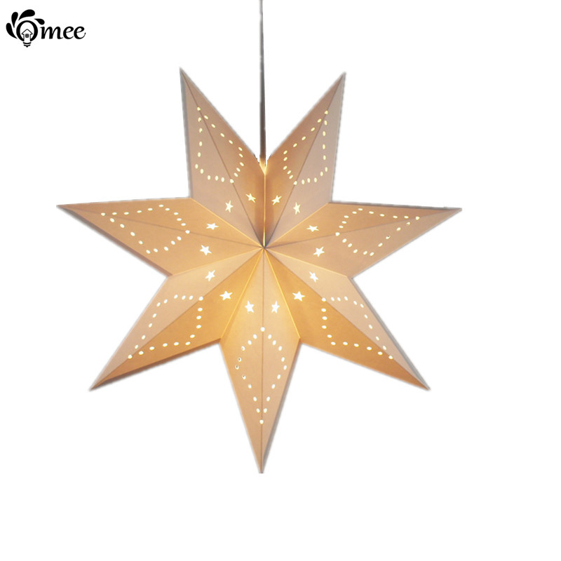 christmas decoration colorful pendant light 7 style creative twinkle star lighting pendant lamp coffee dining living - Star Pendant Light