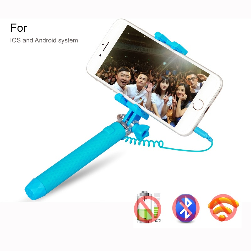 AINGSLIM Universal Mini Macaron Color Extendable Selfie Stick For iPhone 6 6S Plus 5 5S 360 Degree Rotation Foldable Self Stick