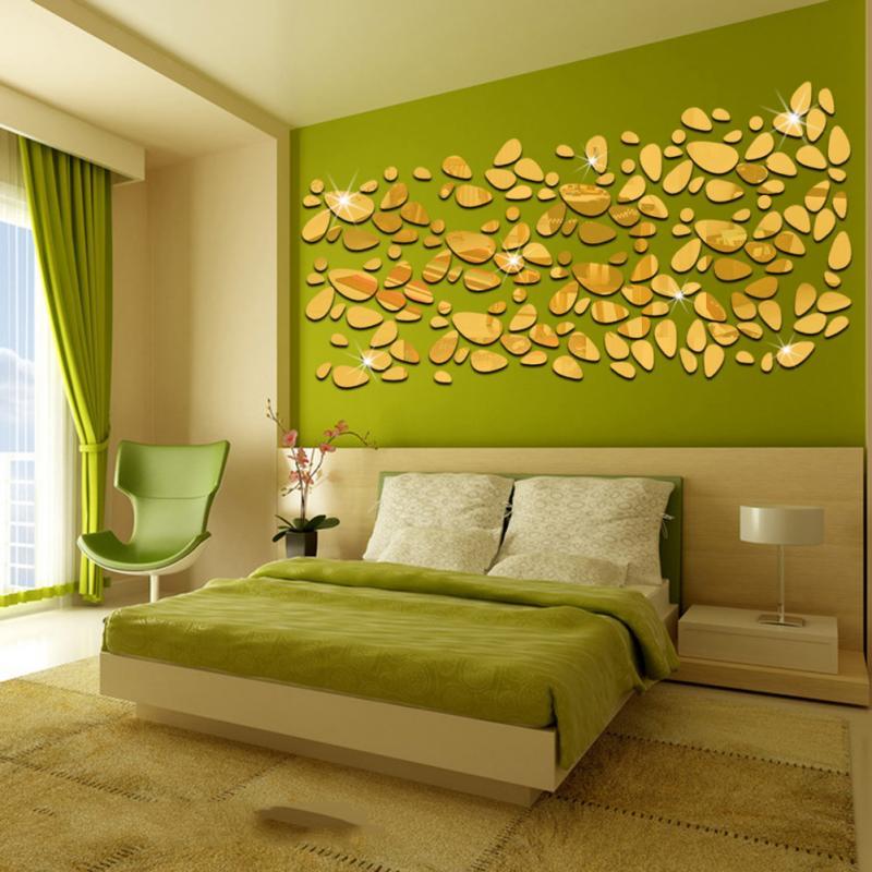 Fashion Oval Abstract Decor Glass Sticker Sofa Background Home Decor ...