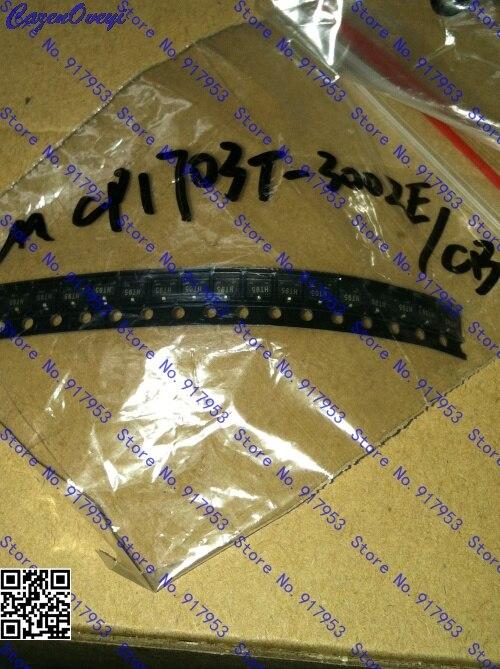 10pcs/lot MCP1703T-3302E/CB MCP1703 3.3V SOT-23 In Stock
