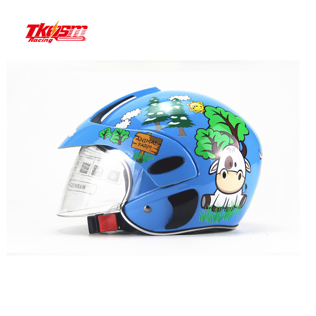 TKOSM Personality children helmet motorcycle girl or boy  baby 2 to 7 years  safety helmet four seasons universal one size