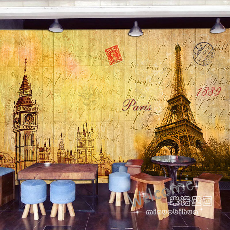 Home Improvement Humorous Custom 3d Mural Retro Map Bar Tv Sofa Background Wall Tea Coffee 3d Yacht Restaurant Hotel Library Museum Mural Wallpaper Wallpapers