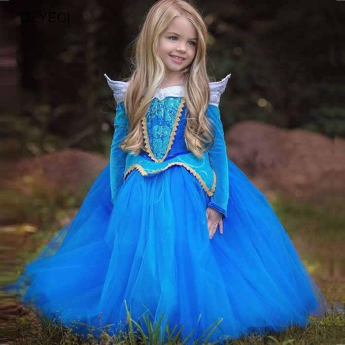 a6fde6314 2018 Aurora Cosplay disfraces de Carnaval para niñas vestido de ...