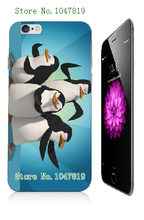 Mobile Phone Case Retail 1pc penguins Protective White Hard Case Cover For iphone 6 Free Shipping