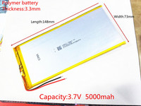 Free Shipping New 3 7 V Lithium Polymer Battery Rechargeable Battery 3373148 Pl 5000 Mah Tablets