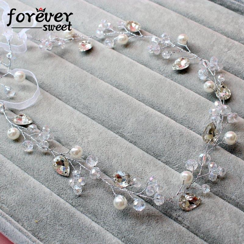 handgemachte weiße Kristallperlenperlen zarte Stirnband Kranz - Modeschmuck - Foto 3