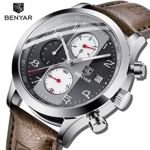 Mens Watches 2018 BENYAR Top Brand Luxury Fashion Casual Business Sport Digital Military Quartz Watch Waterproof Clock