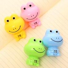 Корейская креативная мультяшная канцелярская мини-точилка для карандашей ручная мини-лягушка 5,5*3,5 см школьные принадлежности 5 шт Цветные Разноцветные ремешки для рыбалки нахлыстом