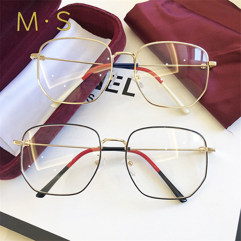 MS 2019 Anti Blue Light Ray Computer Goggles Radiation-resistant Transparent Eye Glasses Frames For Unisex Flat Mirror Goggles