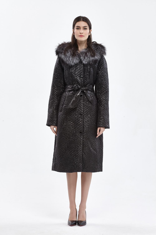 7e495efb8b8 BASIC EDITIONS Winter Slim Fit Cotton Coat Women's Hooded Fox Fur Collar 3M  Thinsulate Jackets Warm Winter Coat Parka - D11015