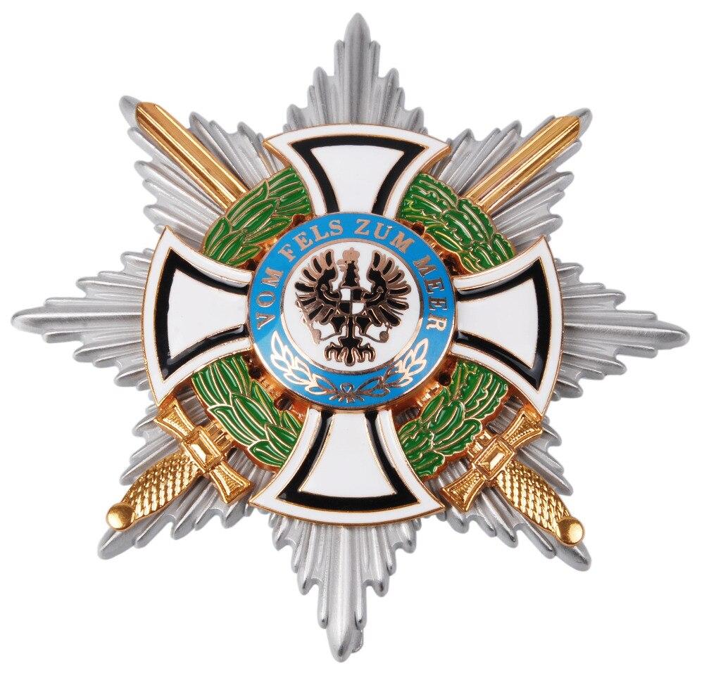 WW1 WWI GERMAN HOHENZOLLERN ROYAL HINDENBURG STAR IRON CROSS MEDAL BADGE-35063