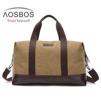 Aosbos Training Gym Bag Men Women Vintage Canvas Sports Bag For Fitness Outdoor Traveling Storage Handbags